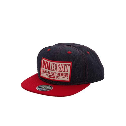 Volbeat - RRR Patch Dark Blue Denim/Red - Caps