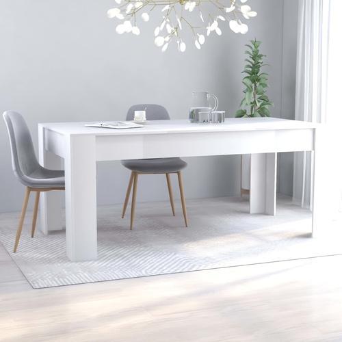 vidaXL Esstisch Weiß 180×90×76 cm Spanplatte
