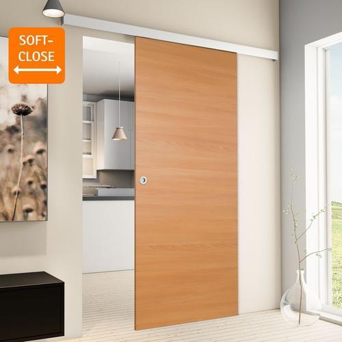 Tür Schiebetür Holz Buche 880x2035 Zimmertür Holztür Schiebetürsystem - Griffmuschel+2seitiger