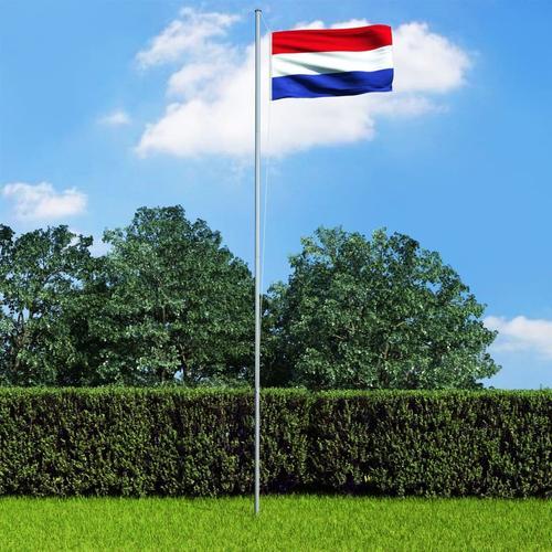 vidaXL Niederländische Flagge und Mast Aluminium 6,2 m