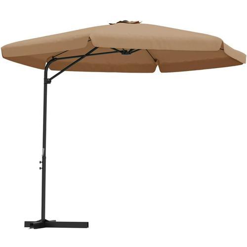 Sonnenschirm mit Stahl-Mast 300cm Taupe