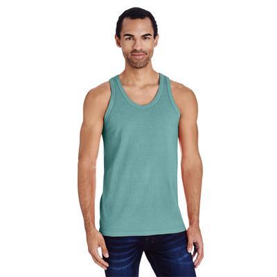 ComfortWash by Hanes GDH300 Men's 5.5 oz. Ringspun Cotton Garment-Dyed Tank Top in Spanish Moss size 3XL