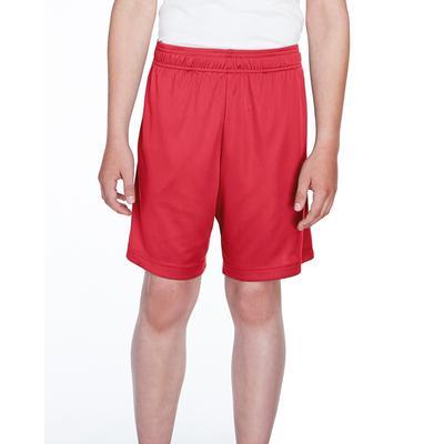 Team 365 TT11SHY Youth Zone Performance Short in Sport Red size Medium   Polyester