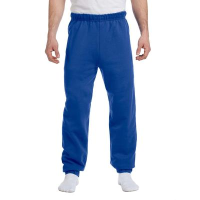 Jerzees 973 Adult 8 oz. NuBlend Fleece Sweatpants in Royal Blue size Small | Cotton Polyester 973MR