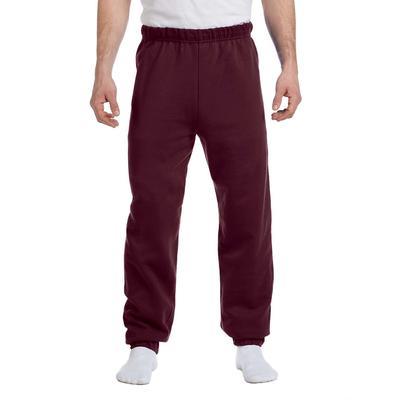 Jerzees 973 Adult 8 oz. NuBlend Fleece Sweatpants in Maroon size Medium   Cotton Polyester 973MR