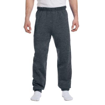Jerzees 973 Adult 8 oz. NuBlend Fleece Sweatpants in Black Heather size 3XL   Cotton Polyester 973MR