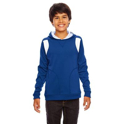Team 365 TT30Y Youth Performance Hoodie in Sport Royal/White size Small | Polyester