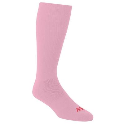 A4 S8005 Multi Sport Tube Socks in Pink size Large   Polyester Blend