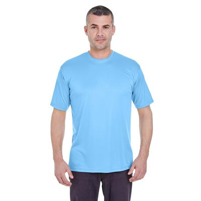 UltraClub 8620 Men's Cool & Dry Basic Performance T-Shirt in Columbia Blue size XL   Polyester