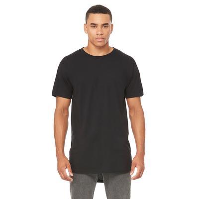 Bella + Canvas 3006 Men's Long Body Urban T-Shirt in Black size Large   Cotton