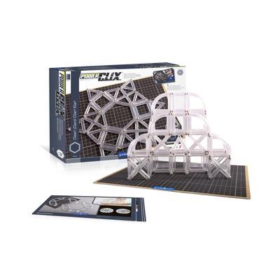 Guidecraft Power Clix Frames Clear - 74 Pieces Set - Multi-Color