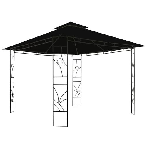 vidaXL Pavillon 300 x 300 x 300 cm Anthrazit Quadratisch