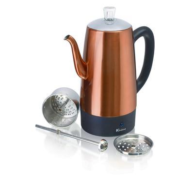 Euro Cuisine PER12 Electric Percolator - 12 Cups - Copper