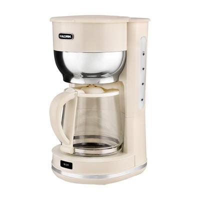 KALORIK Retro 10-Cup Cream Drip Coffee Maker, Ivory