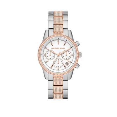 Michael Kors Two-Tone Women's Ritz Chronograph Two Tone Stainless Steel Watch