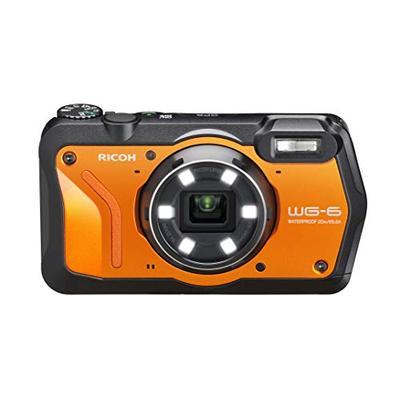 RICOH WG-6 Orange Waterproof Camera 20MP Higher Resolution Images 3-inch LCD Waterproof 20m Shockpro