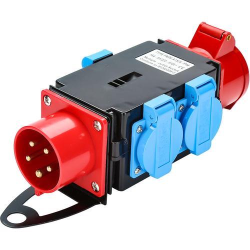 Kraftstrom Starkstrom Verteiler CEE 400V/16A+3 x 230V Schutzkontaktsteckdosen Industrie