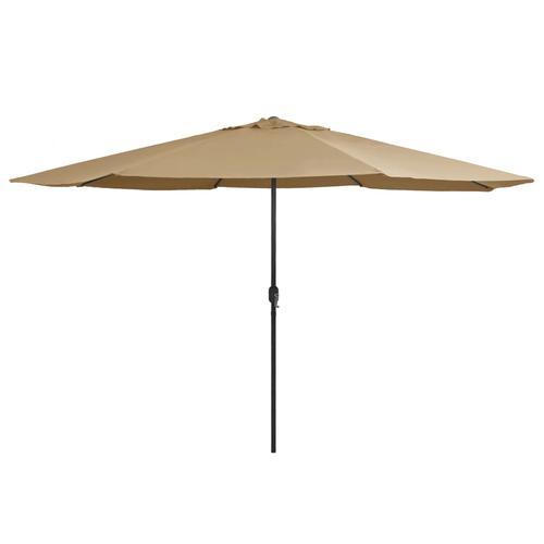 vidaXL Sonnenschirm mit Metall-Mast 400 cm Taupe
