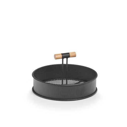 Zeller Present Tablett, Ø 20 cm schwarz Tischaccessoires Geschirr, Porzellan Haushaltswaren Tablett