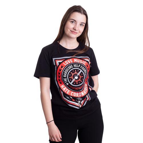 Hardcore Help Foundation - Fuck Corona - - T-Shirts