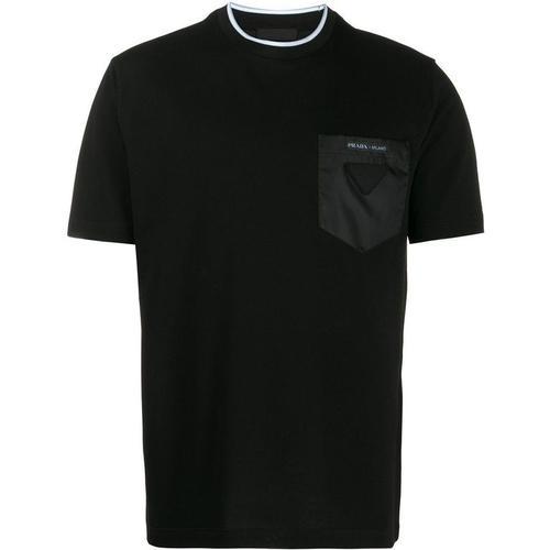Prada T-Shirt mit Logo-Tasche