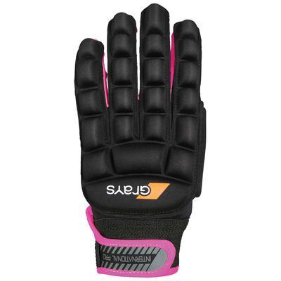 Grays International Pro Field Hockey Gloves - Left Hand Black/Pink