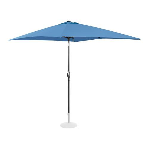 Uniprodo Sonnenschirm groß - blau - rechteckig - 200 x 300 cm - neigbar