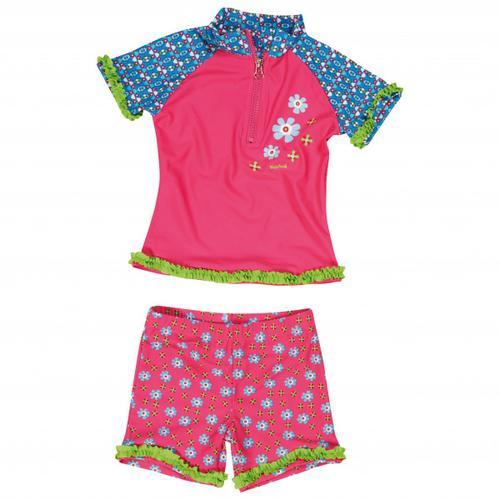 Playshoes - Kid's UV-Schutz Bade-Set Blumen - Lycra Gr 122/128 rosa