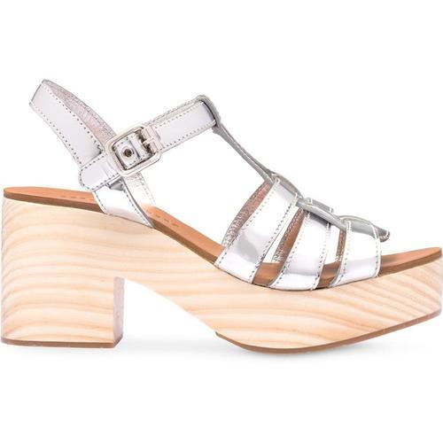 Miu Miu Sandalen im Holz-Look