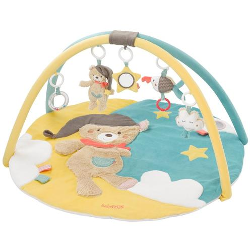 Fehn Spielbogen Bruno 3-D-Activity-Decke, mit Krabbeldecke bunt Kinder Activity Center Trapeze Baby Kleinkind