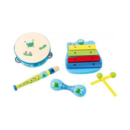 "Musik-Set ""Frosch"" blau"