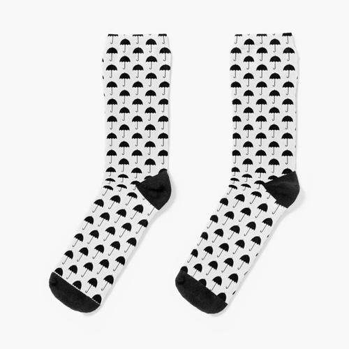 Schwarzer Regenschirm Socken