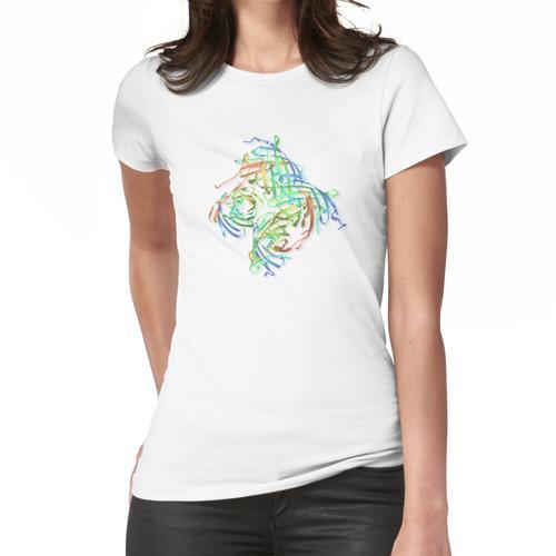 Kristallstruktur eines Proteinmoleküls Frauen T-Shirt