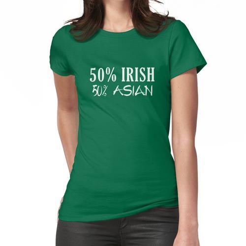 50 Prozent Iren 50 Prozent Asiaten Frauen T-Shirt
