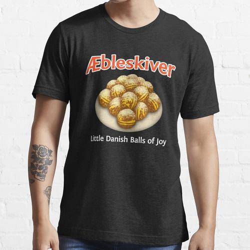 Lustiger dänischer Aebleskiver Essential T-Shirt