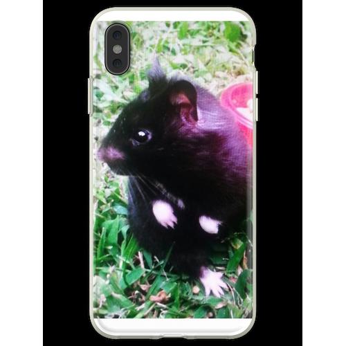 Chomik der Schwarzbär Hamster Flexible Hülle für iPhone XS Max