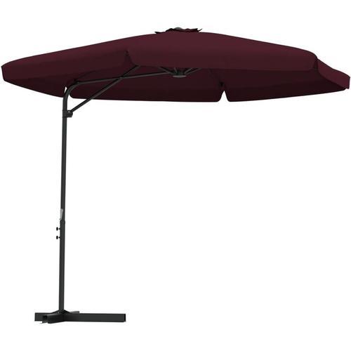 Vidaxl - Sonnenschirm mit Stahl-Mast 300cm Bordeauxrot