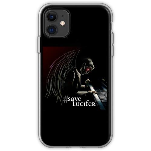 #SaveLucifer Lucifer am Klavier Flexible Hülle für iPhone 11