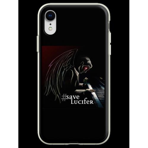 #SaveLucifer Lucifer am Klavier Flexible Hülle für iPhone XR