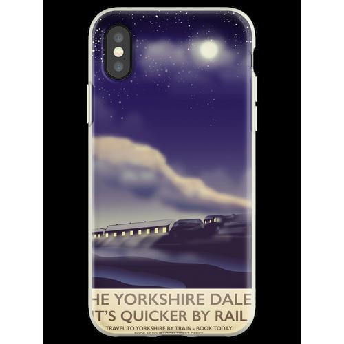Das Yorkshire Dales Eisenbahnplakat Flexible Hülle für iPhone XS