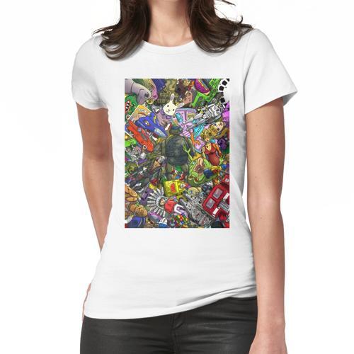 Retro Spielzeugkiste Frauen T-Shirt