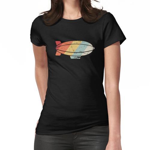 Retro Vintage Luftschiff Luftschiff Frauen T-Shirt
