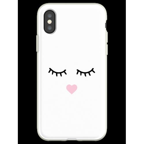 Süße Wimpern - Wimpern, Mascara Flexible Hülle für iPhone XS