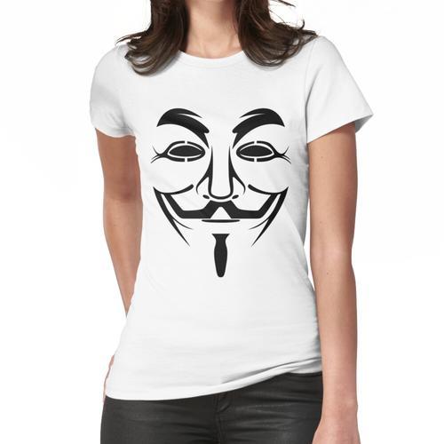 Anonymes Logo - Wir sind Legion, anonymes Gesicht, anonymer Kopf, anonyme Maske Frauen T-Shirt