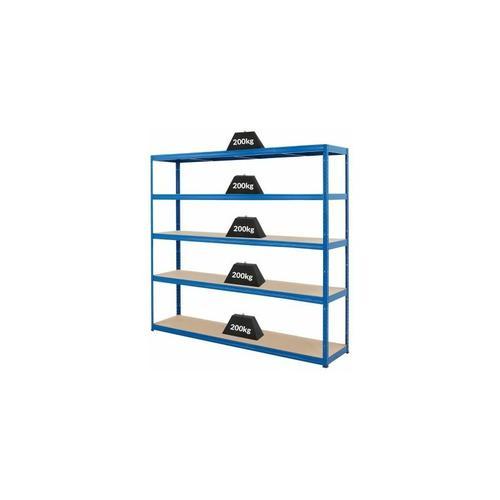 Mega Deal | 4x Schwerlastregal – Tiefe 45 cm und 1x Werkbank
