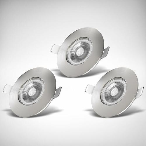 3x LED Einbaustrahler Bad Spot dimmbar Lampe IP44 Einbauleuchte 5W Spot Strahler
