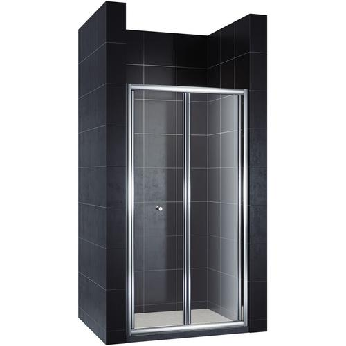 Falttür Duschkabine Duschtür Duschwand faltbar 100x185cm - Sonni