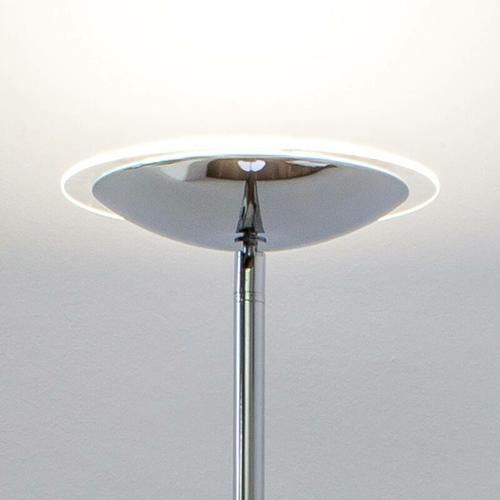 Chromglänzender LED-Deckenfluter Malea