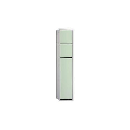 asis module 150 WC-Modul-Unterputzmodell, Papierhalter, Feuchtepapierbox, Toilettenbürstengarnitur,