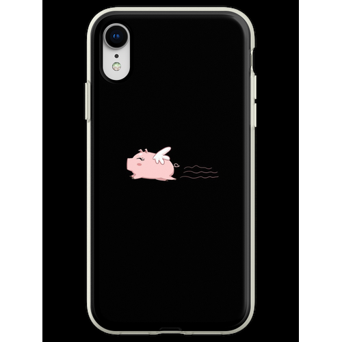 Fliegen-Schwein-T-Shirt Schwein-Hemd-Schwein-T-Shirt Lustiges Hemd Flexible Hülle für iPhone XR
